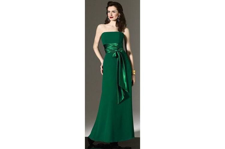 wedding bridesmaid dresses green