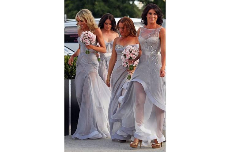 wedding bridesmaid dresses grey