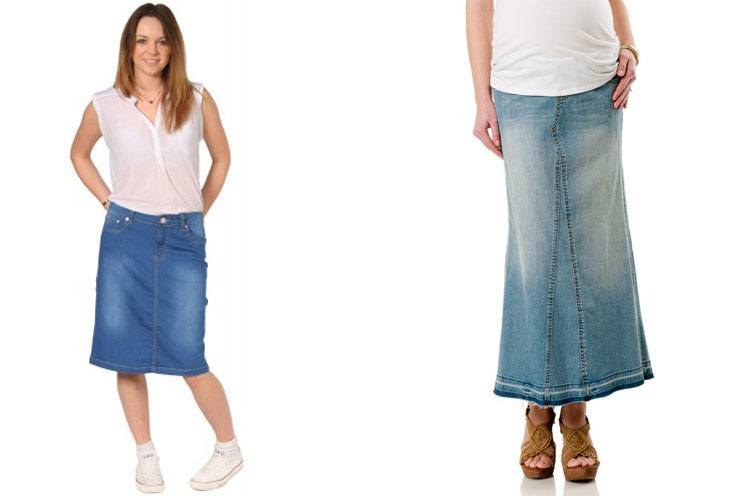 womens Denim Skirts