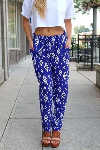Cute printed harem pants for womens
