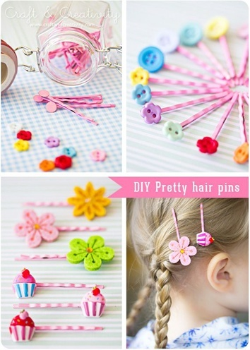 DIY pretty Bobby pins