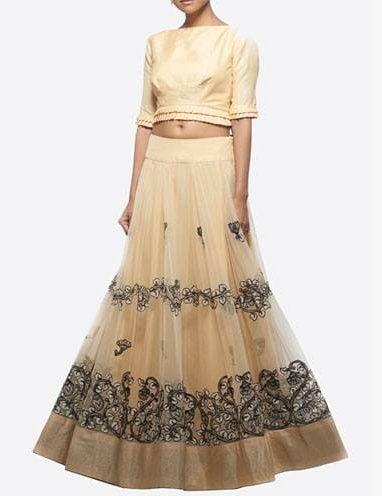 How to Wear a crop top bridal lehenga