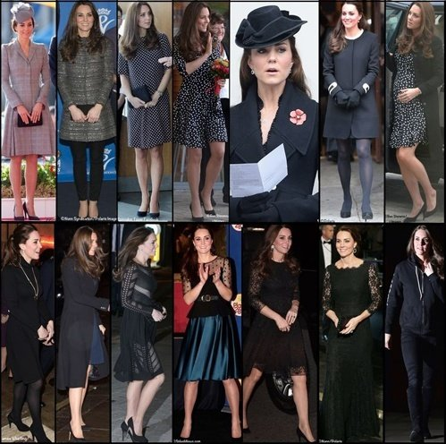 Kate Maternity Pregnancy Wardrobe Wrapup Black Outfits