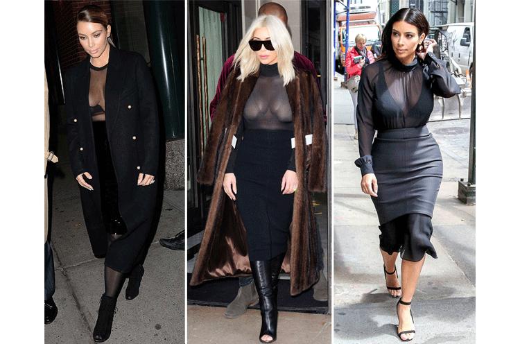 Kim Kardashian black jumpsuit styles
