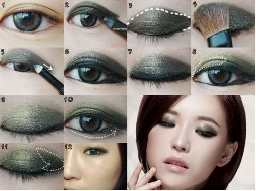 Monolid Smokey Eye