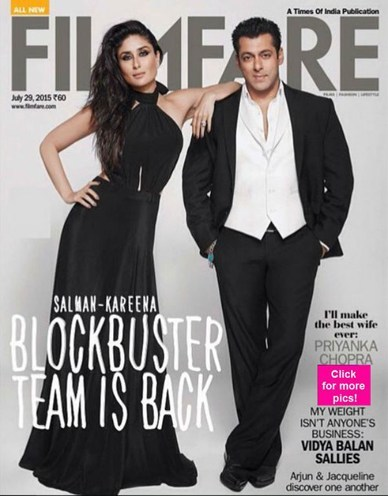 Salman Khan and Kareena Kapoor's latest Filmfare cover