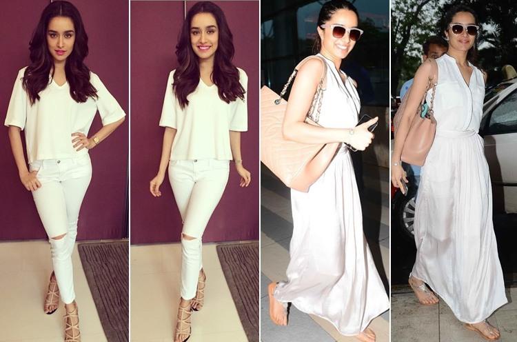 Shraddha Kapoor in white dresses