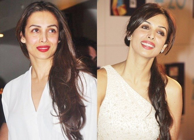 Malaika Arora with Matte Red Lipstick