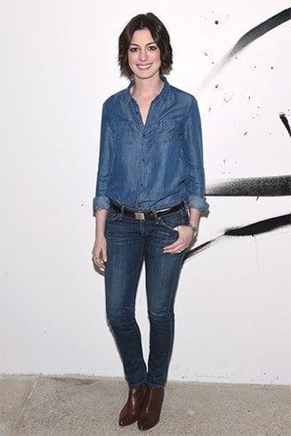 Anne Hathaway denimstyles