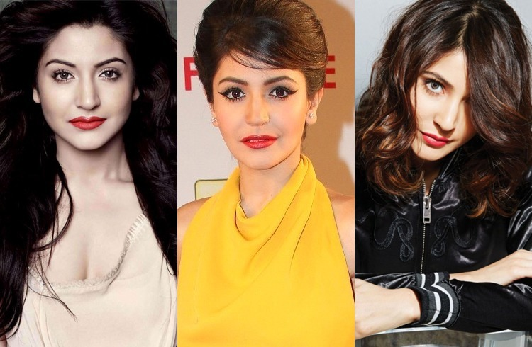 Anushka Sharma Sporting Red Lipstick
