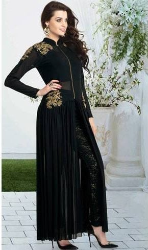 Black anarkali for ramzan