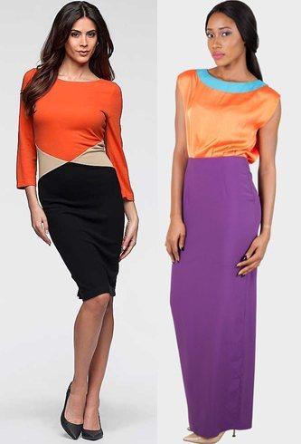 Bold colours fashion