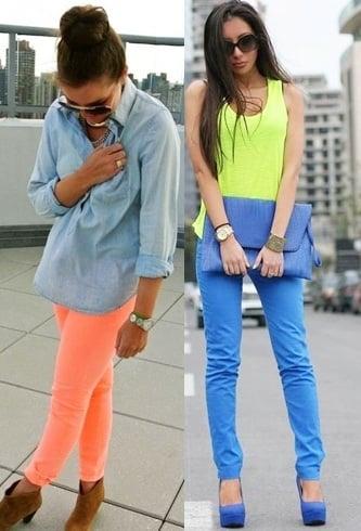 Bright colour fashion tips