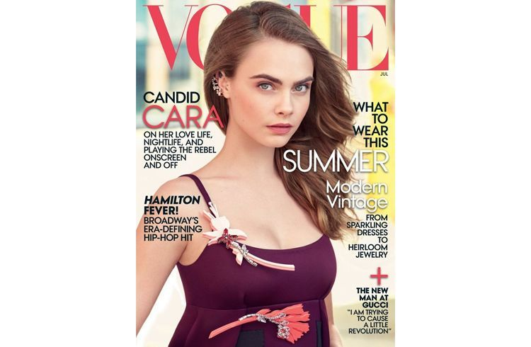Cara Vogue magazine cover