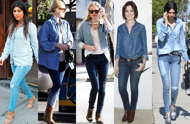Celebrities wearing double denim