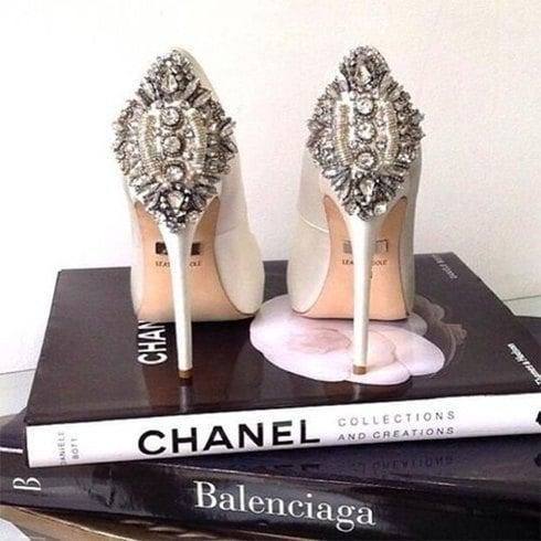 Chanel jewel shoes