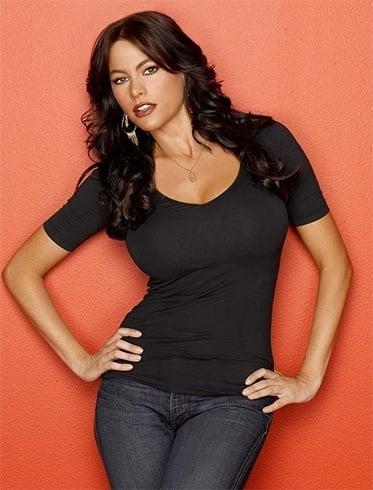 Colombian model Sofia Vergara looks