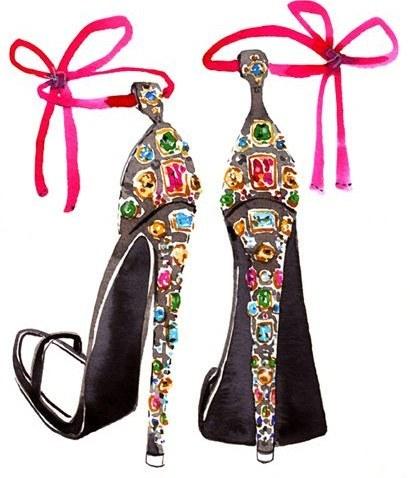 Colourful gems footwear