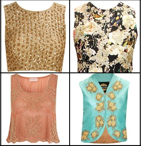 Crop top blouse ideas