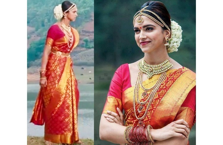 Deepika Padukone in wedding saree