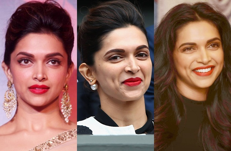Deepika Padukone with Red Lipstick