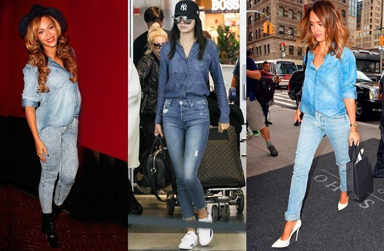 Denim on denim fashion