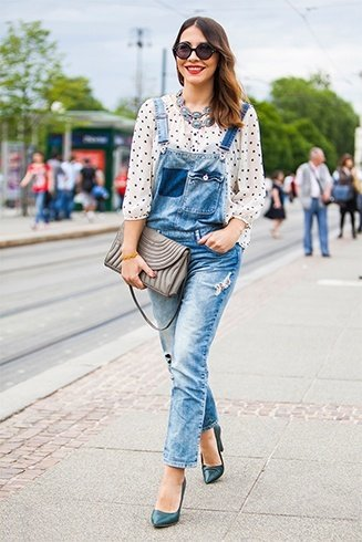 Denim overall street style