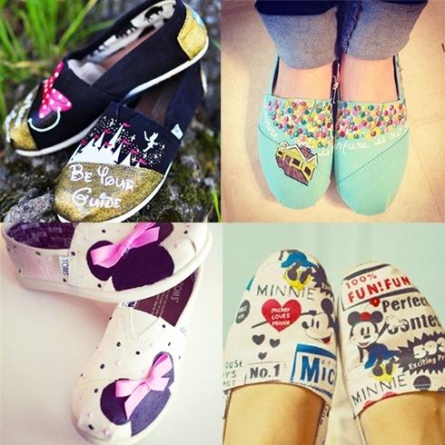 Disney embossed footwear
