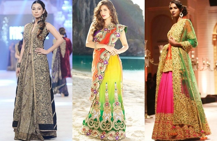 Embroidery on Bridal Sarees and Lehengas