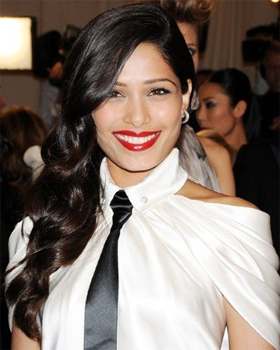 Frieda Pinto's Red Lips