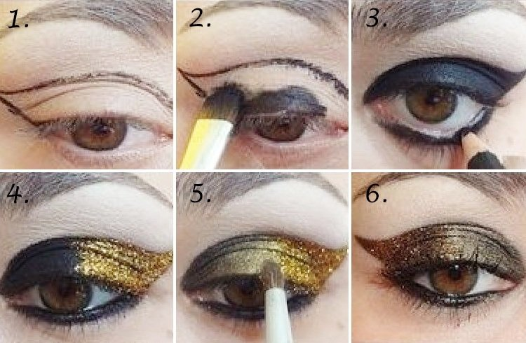 Glitter eyeshadows tutorial