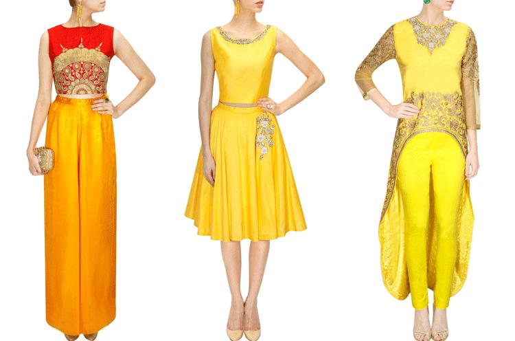 haldi ceremony dresses