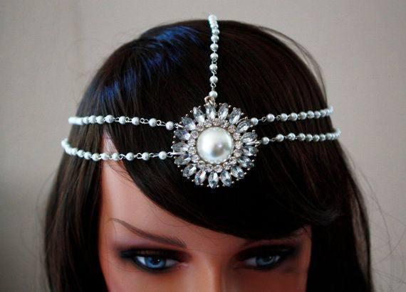 Handmade haute couture headchain