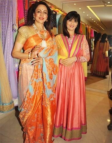 Hema Malini saree styles