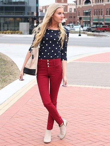 retro with a pair of high waist jeans