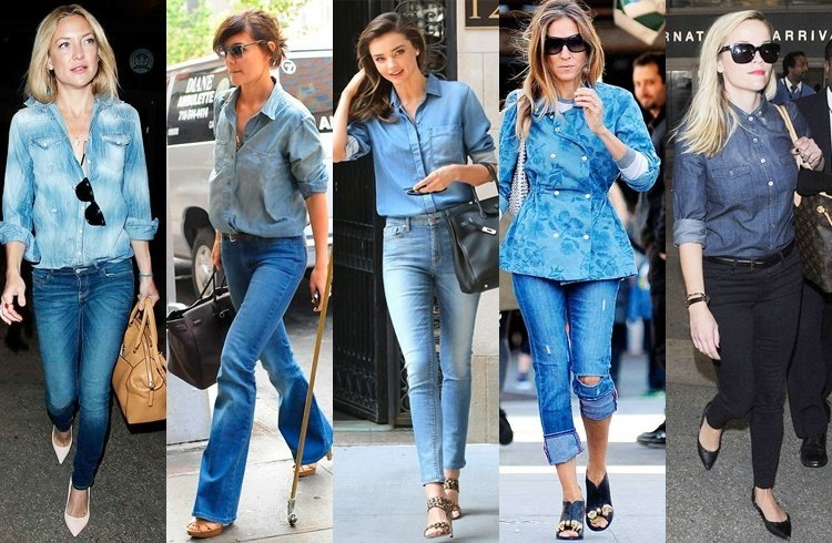 What do you wear denim shirts with