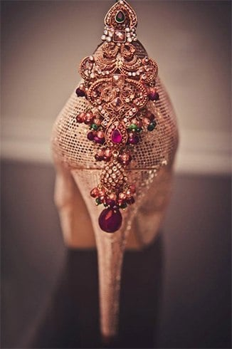 Jewelled shoes for wedding