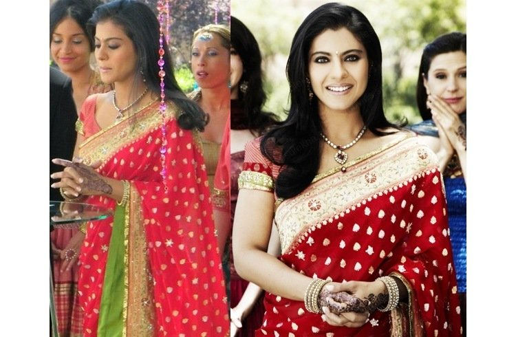 Kajol in wedding dress