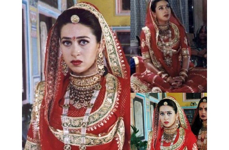 Karisma Kapoor in wedding outfits