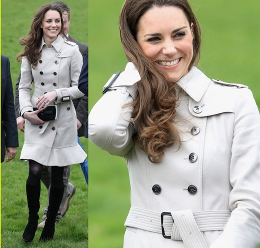 kate middlton in burberry trench coat