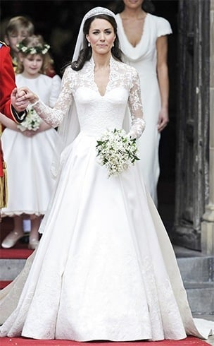 Kate Middleton Princess Ball Gown Wedding Dress