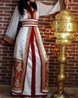 Long-sleeved kaftans for wedding