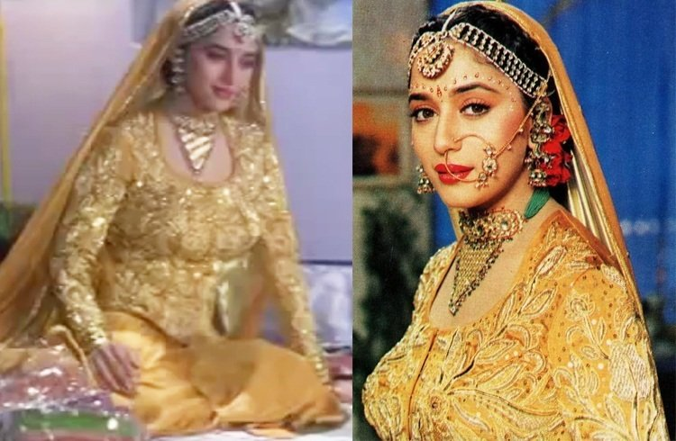Madhuri Dixit wedding dresses
