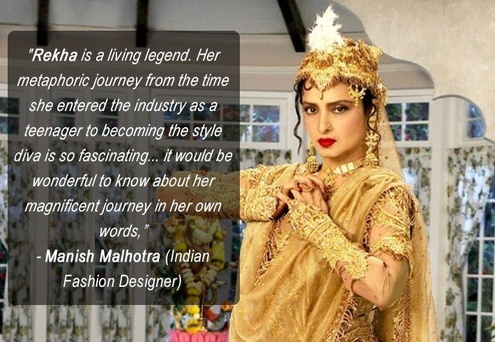 Manish Malhotra words about Rekha