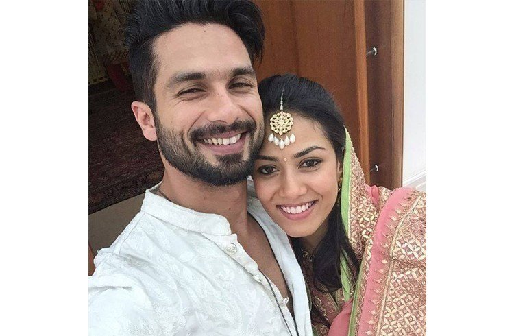 Shahid Kapoor and Mira Rajput first selfie