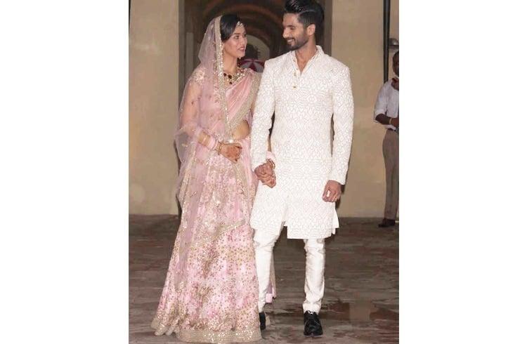 Shahid Kapoor and Mira Rajput marriage