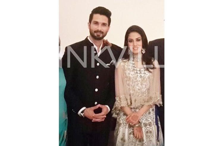 Mira Rajput and Shahid Kapoor  reception