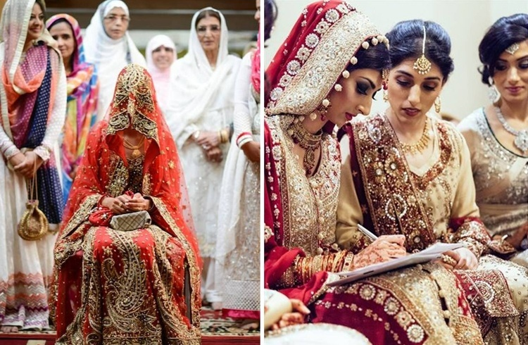Muslim Bride Friends and Family