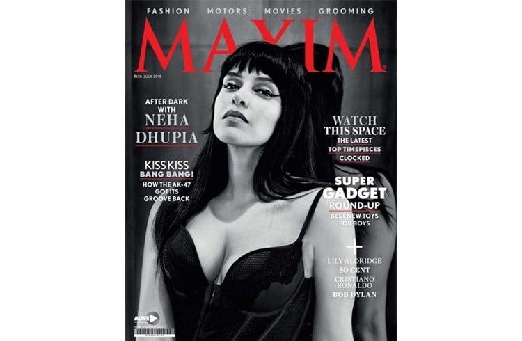 Neha Dhupia on Maxim cover