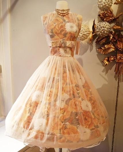 organza printed chiffon dress